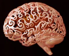 Anatomical 3D Self-Portrait by Joshua HarkerMarch 27 #sculpture #brain