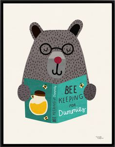 #nordic #design #graphic #illustration #danish#simple #nordicliving #living #interior #kids #room #poster #bear #teddy #bee #study