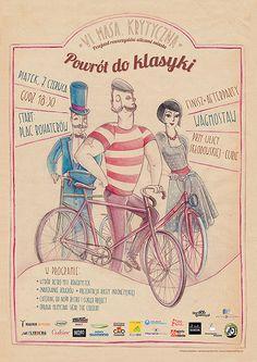 Zaczarowana Walizka #fixie #bicycle #fixed #critical #cyclist #classic #retro #mustache #gear #illustration #mass #bike #poster #watercolor