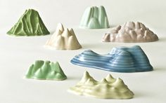 marianne nielsen #glazed #porcelain #mountains #cast