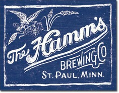 Hamms Beer Metal Ad Sign Vintage Retro Decor Wall Bar Pub Dorm Cave Home Gift
