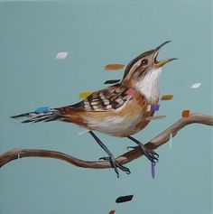 Frank gonzales #paint #illustration #illustrator #bird