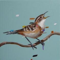 Frank gonzales #paint #illustration #illustrator #bird