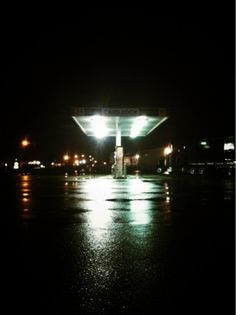 RichieSwims #night #photography #gas #moody #station