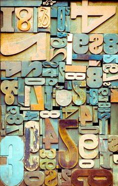 Typeverything.com - Weathered Beach Numbers. (Via iconoclassic, robynsmorgue) #numbers #type #print