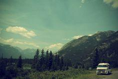 img55.jpg 500×333 pixels #vintage #van #photography #sky #trees #mountains