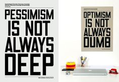 ANTHONY BURRILL - OPTIMISIM PESSIMISM #signage #type #poster #typography