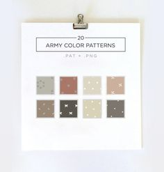 Set of 20 Army Color Minimal Seamless Pattern & digital/art papers ideal for printing or digital design.