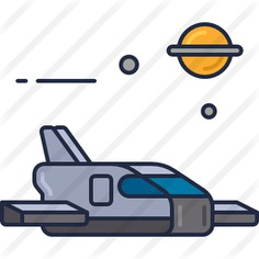 See more icon inspiration related to space shuttle, galaxy, space and transport on Flaticon.