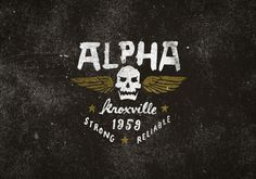 Alpha Industries, an original American military supplier. #logo #design #alpha #military