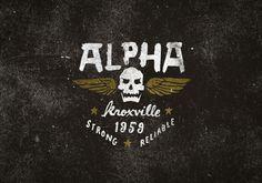 Alpha Industries, an original American military supplier. #logo #design #alpha #military