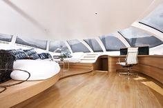 Super yacht with luxury saloon #super #adastra #yacht #modern