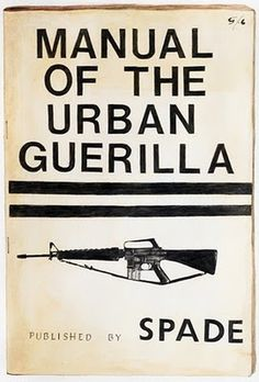 Atelier: manual of the Urban Guerrilla #cover #publication