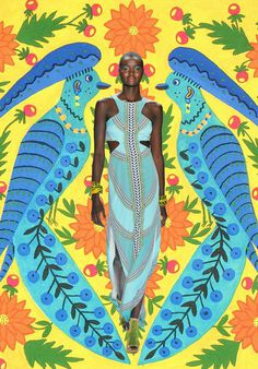 Miss Moss : Mara #fashion #illustration #art