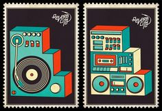 ralph karam - selected works #stamp #synth #record #illustration #music
