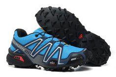 Salomon Speedcross 3 Mens Trail Outdoor Athletic Running Sports Shoe black blue dark navy grey silver