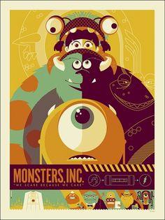New Pixar-Inspired Poster: Monsters, Inc. - My Modern Metropolis #illustration #disney #poster #pixar