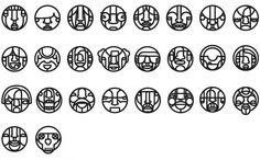 faced.jpg 822×510 pixels #line #will #scobie #faces #icons #illustration