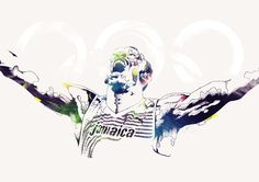 Legendary Olympians on the Behance Network #olympics #sports #gif