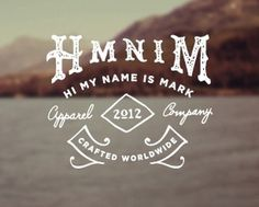 HMNIM #mark #branding #my #is #name #logo #hi #typography