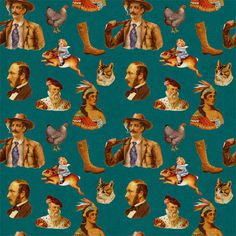 Patterns : Orkacollective #pattern #west #animal #cowboy #far #native