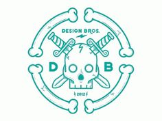 Dribbble - Design Bros tribute. by Nick Slater #vector #branding #illustration #logo #skull