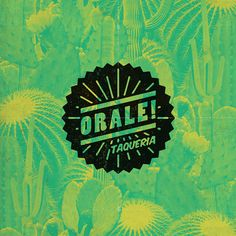 Orale branding #mexican #stamp #cactus #taco