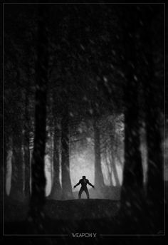 Wolverine noir poster by Marko Manev #movie #white #black #and