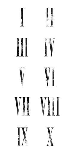 Gambit Wielopolskiego on Behance #numerals #roman