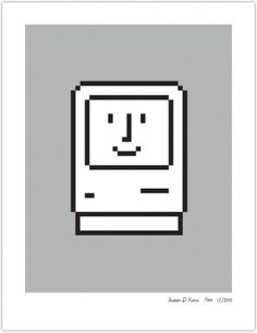 SMILING COMPUTER | Susan Kare Prints #apple #icons #poster