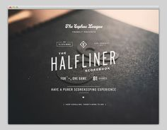 Halfliner #website #layout #design #web