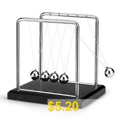 Newton #Cradle #Metal #Balance #Balls #Permanent #Motion #Office #Desk #Decoration #- #SILVER