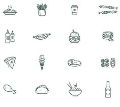 Icon Design by Łukasz Kowalik - Beetroot Graphics #icon #icons #iconset #picto #line #symbol #food