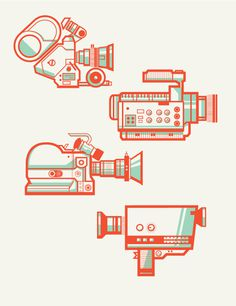 Camera Collection on Behance #illustration #vector