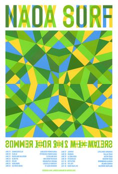 Just finished printing these posters for Nada Surf #geometric #poster