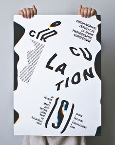 Circulations, poster submitted and designed by Charlotte Ratel (2013)–Type OnlyUnit Editions #print #poster #typography
