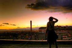 Standing in Awe at the World We Live In - My Modern Metropolis #rooftop #sunset #photography #girl