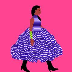 Catwalk #5 by @mkrnld #catwalk #fashion #3d #pattern #illustration #women #mkrnld #model