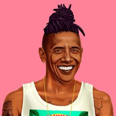 Amazing Hipstory Illustration by artist Amit Shimoni