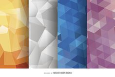 Abstract polygonal background set http://bit.ly/29z9lNQ