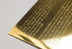 Graphic-ExchanGE - a selection of graphic projects #emboss #associates #nelson #print #shine #gold #shiny