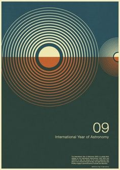 Year of Astronomy poster design | David Airey, graphic designer #modernism #minimalist #david #airey
