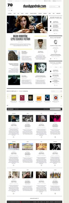 Dwutygodnik.com on Behance #web
