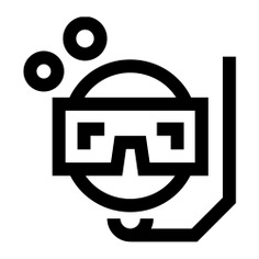 See more icon inspiration related to dive, snorkeling, sports and competition, Tools and utensils, snorkel, breathing, miscellaneous, diving and tube on Flaticon.