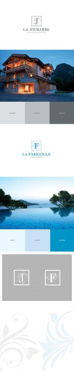 Douce France Location Properties #logotype #brand #identity