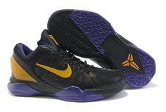 Shoes Nike Zoom Kobe Vii 7 Black Purple Yellow