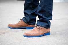 SWAGGER 360: The Blues. #shoes #tan #design #product #leather #fashion #blue