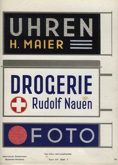 «The Glass & Illuminated Sign» | Flickr - Photo Sharing! #lettering #1930s #illuminated #manual #signage #german
