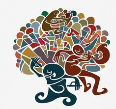Ecuador Jazz on the Behance Network #jazz #illustration #alejoiscool #ecuador