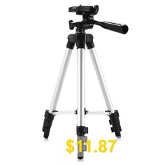 3110 #Silver #Color #Tripod #Stand #4-SECTION #Lightweight #Portable #Aluminum #Mini #Trip #- #SILVER